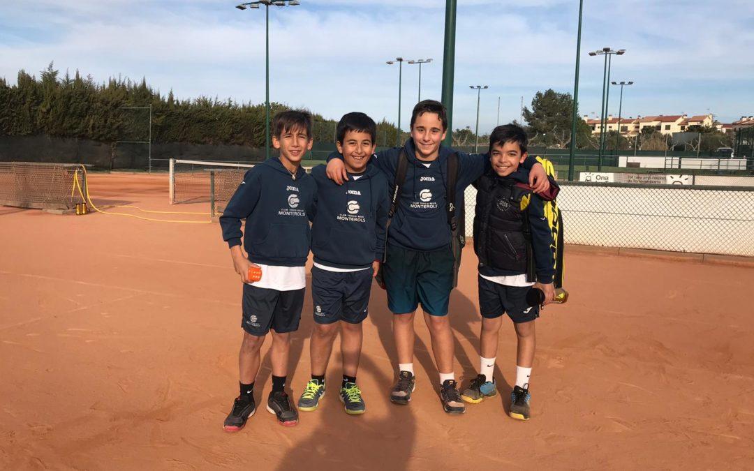 L'Aleví Masculí B s'imposa clarament a casa del UE Torredembarra per 5 a 0 en la Lliga Catalana de tennis