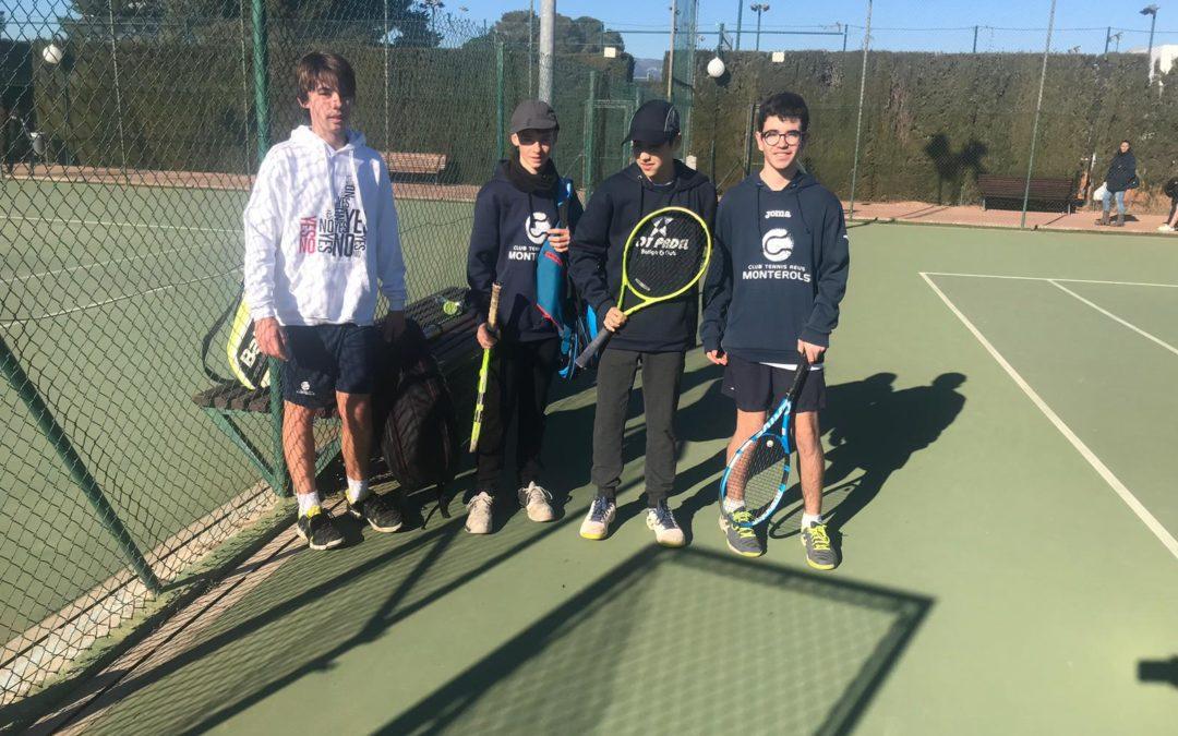L'Infantil Masculí B guanya al CN Calafell per 4 a 1 a la Lliga Catalana de tennis