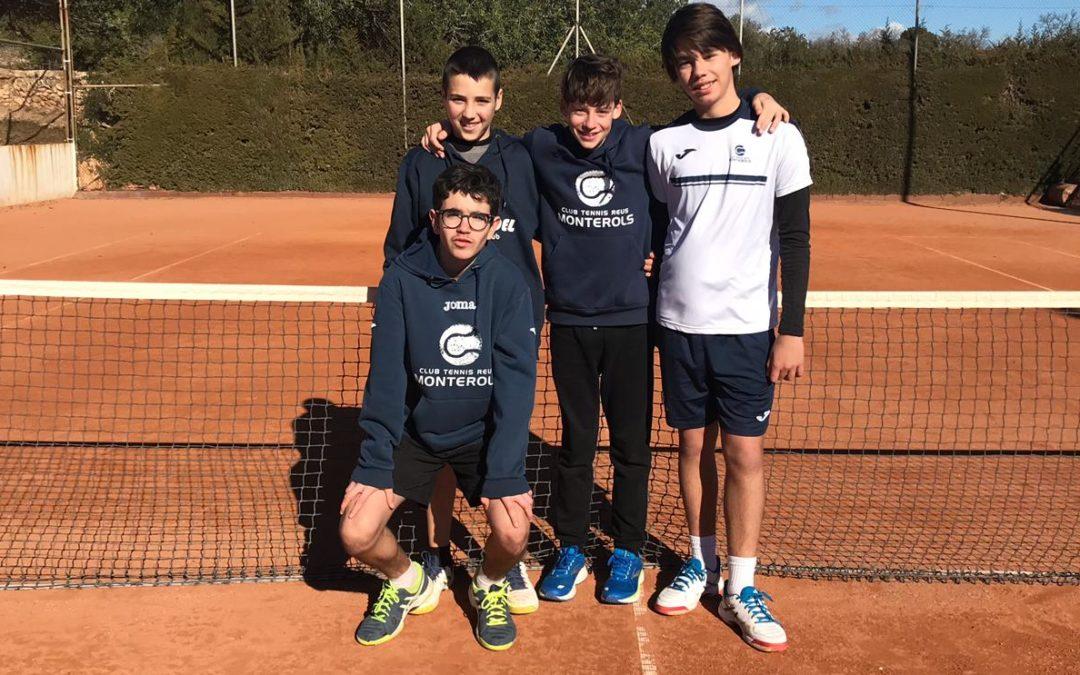 L'infantil Masculí guanya 3 a 2 al CT Valls en la Lliga Catalana en una jornada de molt bon tennis
