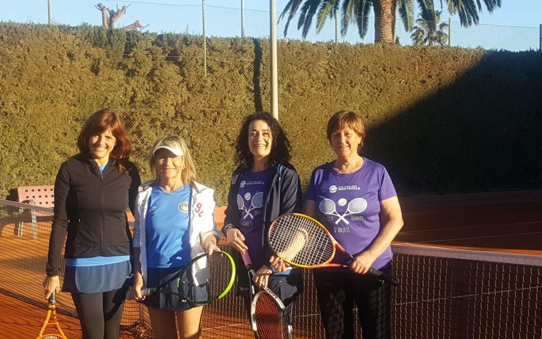 Victòria de l'equip Femení +30 contra el CT Cubelles en el Campionat Interclubs de tennis