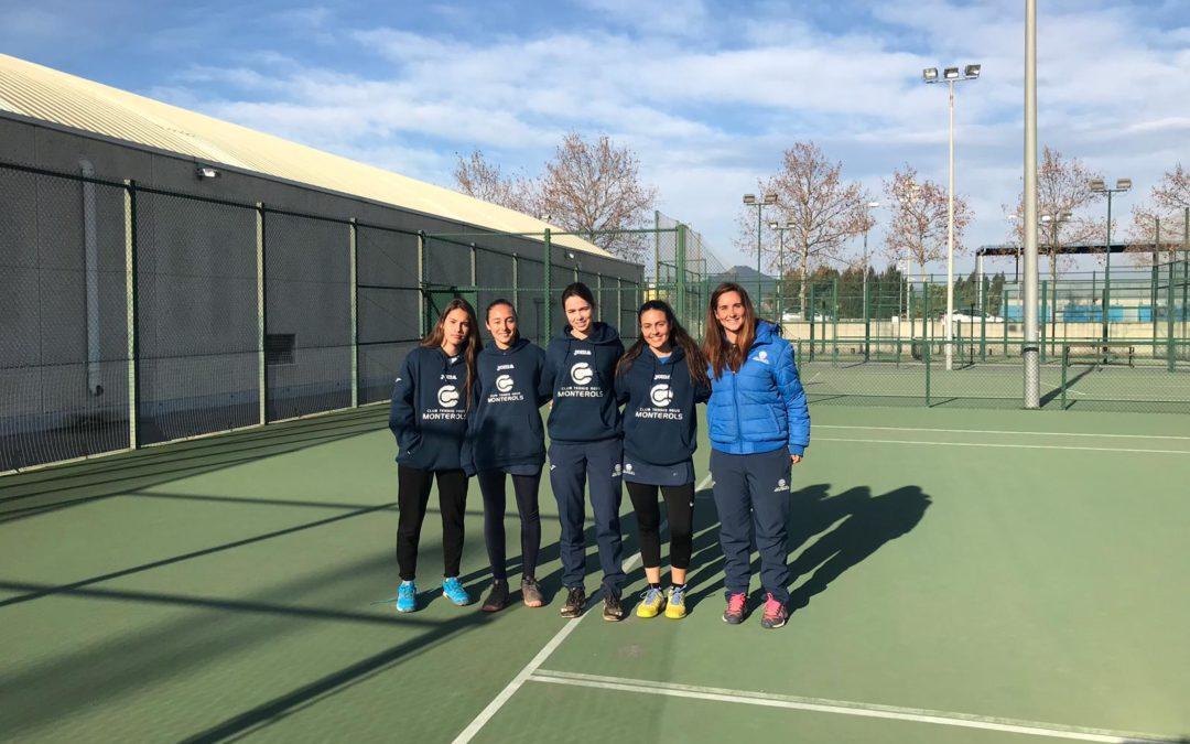 Gran victòria de l'Absolut Femení en la Lliga Catalana de tennis