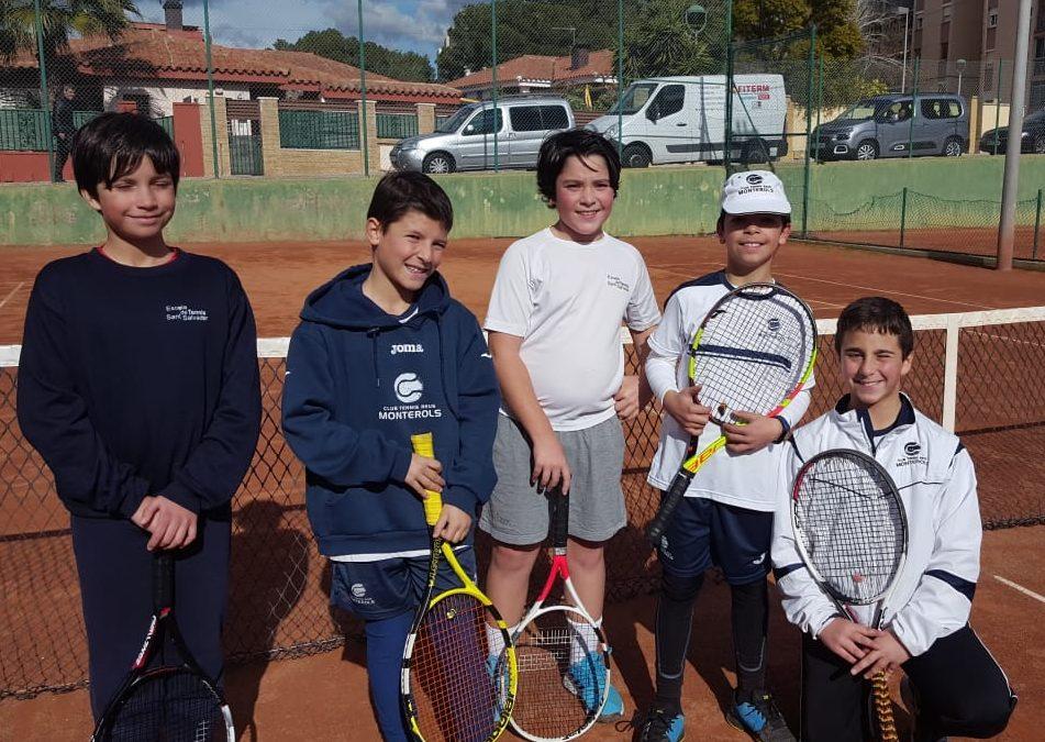 Victòria sense problemes de l'Aleví Masculí B contra el CT Sant Salvador en la Lliga Catalana de tennis