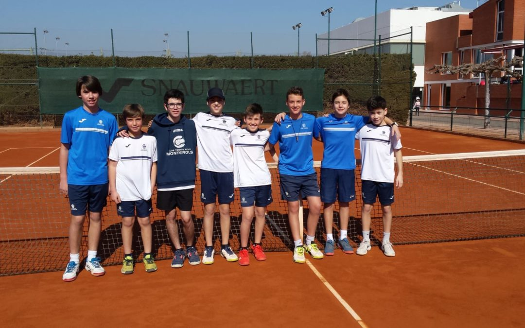 Lliga Catalana de tennis. L'infantil  masculí A s'imposa a l'Infantil masculí B per 5 a 0.