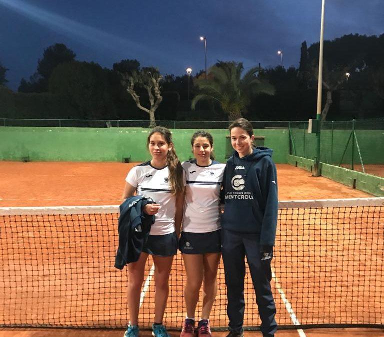 Victòria de l'Absolut Femení contra el CT Vilanova en la Lliga Catalana de tennis per 4 a 0.