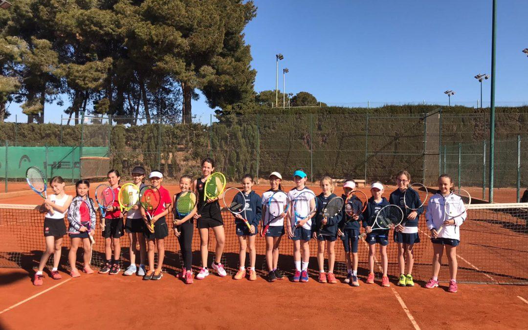 Derrota del Benjamí Femení contra el Club Tennis Tarragona en la Lliga Catalana de tennis