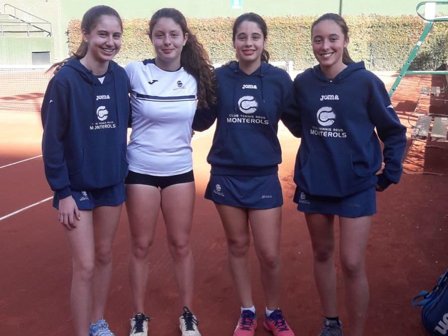 El Cadet Femení cau derrotat a les semifinals del Catalunya de tennis per equips categoria or