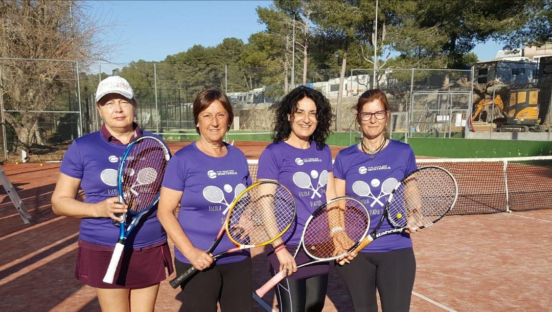 El Femení +30 s'emporta la victòria de casa del CT Catllar en el campionat Interclubs de tennis