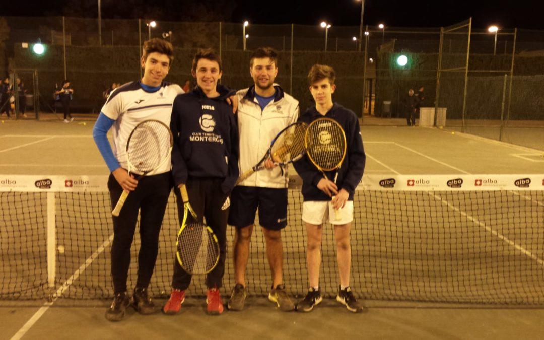 Victòria del Júnior Masculí B contra el CT Sant Salvador en la Lliga Catalana de tennis