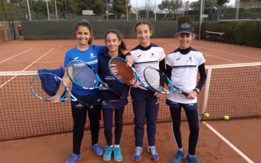L'infantil femení perd contra el Tennis Tarragona l'eliminatòria del Campionat de Catalunya per equips.
