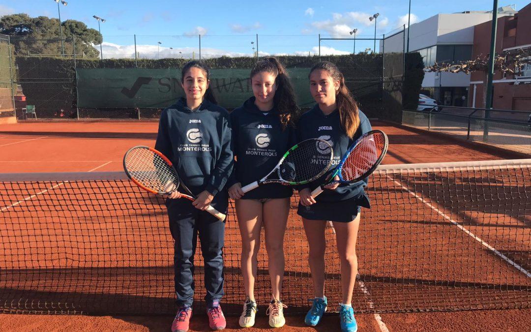 Bona victòria de l'Absolut Femení contra el Club Tennis Cubelles en la Lliga Catalana de tennis