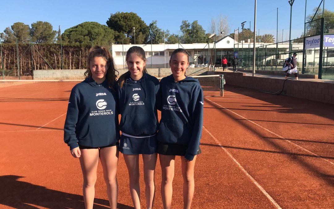 Victòria del Cadet Femení contra el Reus Deportiu en la Lliga Catalana de tennis