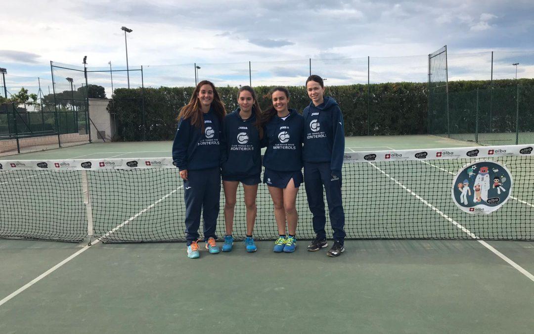 L'absolut femení del Monterols comença la segona fase de la Lliga Catalana de tennis amb victòria contra el CT Sant Andreu
