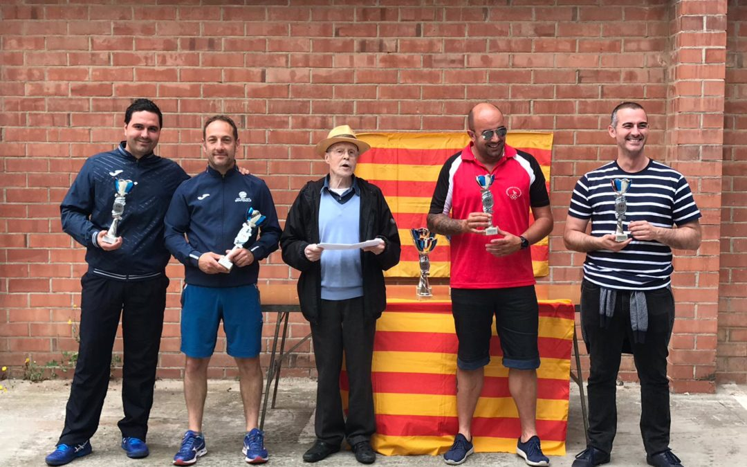 La parella Vázquez-Mondaray del Monterols es proclama tercera en el Campionat de Catalunya de Frontennis Preolímpic per Parelles 2019