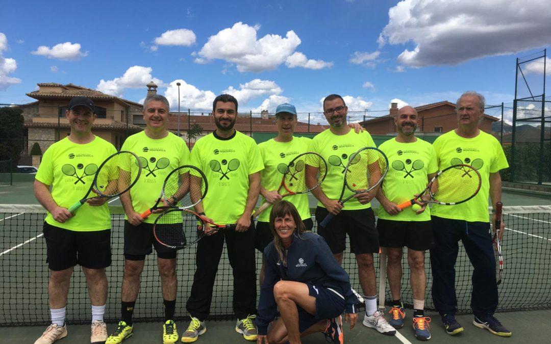 Amistós amb el CT Montblanc de l'escola d'adults de tennis