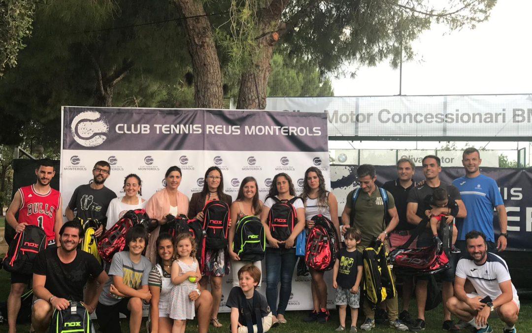 Els equips de pàdel del Monterols tanquen la temporada amb una festa final i l'entrega de premis de la Lliga dels Reptes