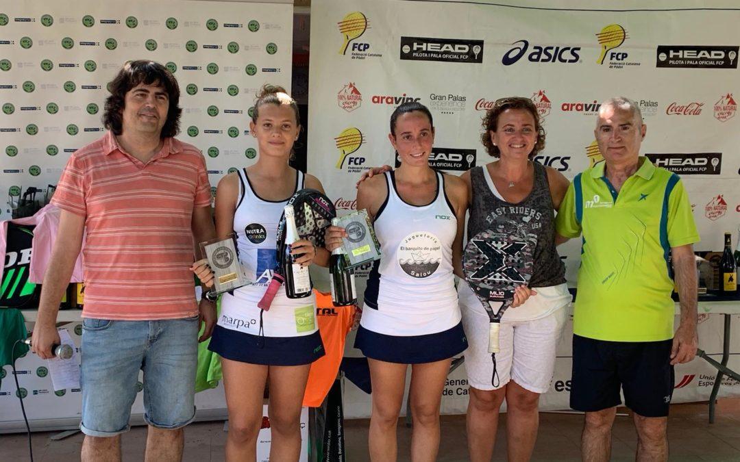 Laura Casanovas i Maria Freixas, campiones del bronze de pàdel del Club Plana d'en Berga