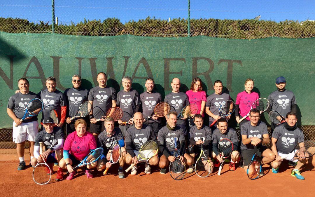 Trobada dels alumnes de l'escola de tennis d'adults