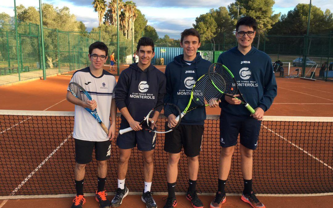 L'equip Júnior Masculí B s'imposa al Golf Costa Daurada en la Lliga Catalana de tennis