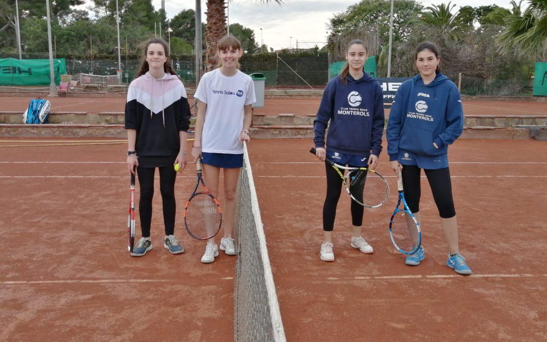 Gran victòria del Cadet Femení B contra el CT Salou en la Lliga Catalana de tennis