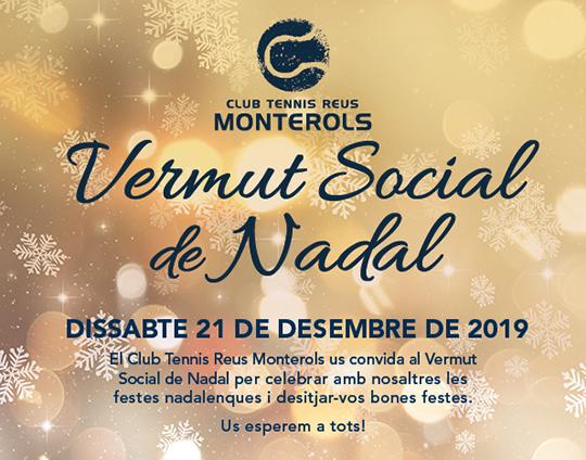 El Club Tennis Reus Monterols donarà el tret de sortida del cinquantenari del Club al Vermut Social de Nadal
