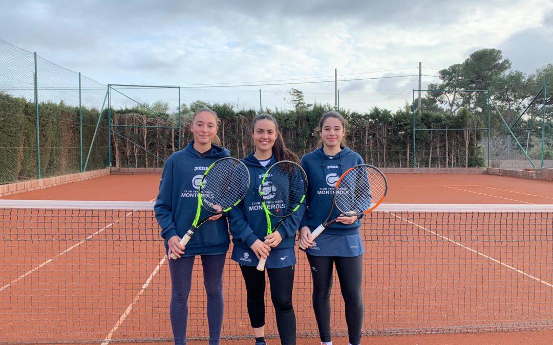 L'Absolut Femení del Monterols s'enduu la victòria en la Lliga Catalana de tennis a les instal·lacions del Reus Deportiu