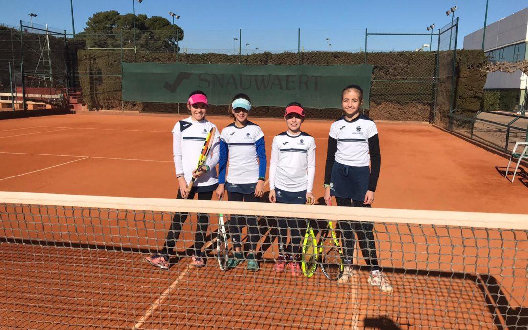 L'Aleví Femení del Monterols empata contra el Tennis Tarragona en la Lliga Catalana de tennis
