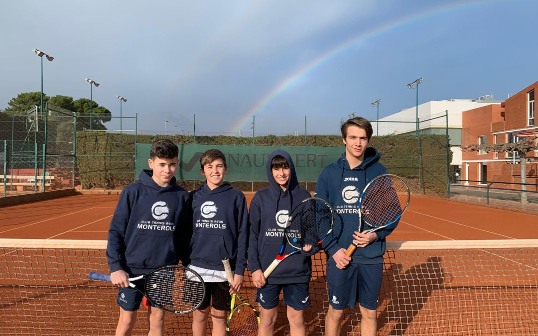 El Cadet Masculí acaba l'any amb victòria contra el CT Romaní en la Lliga Catalana de tennis