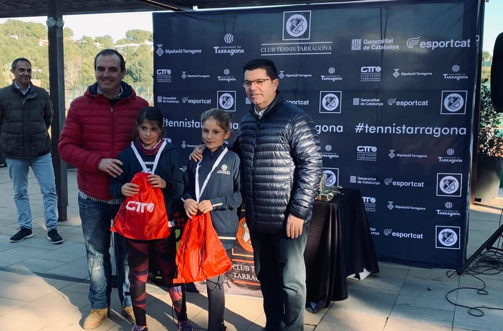 Resultats destacats dels jugadors del Monterols en la prova de la Copa Catalunya de tennis del Club Tennis Tarragona