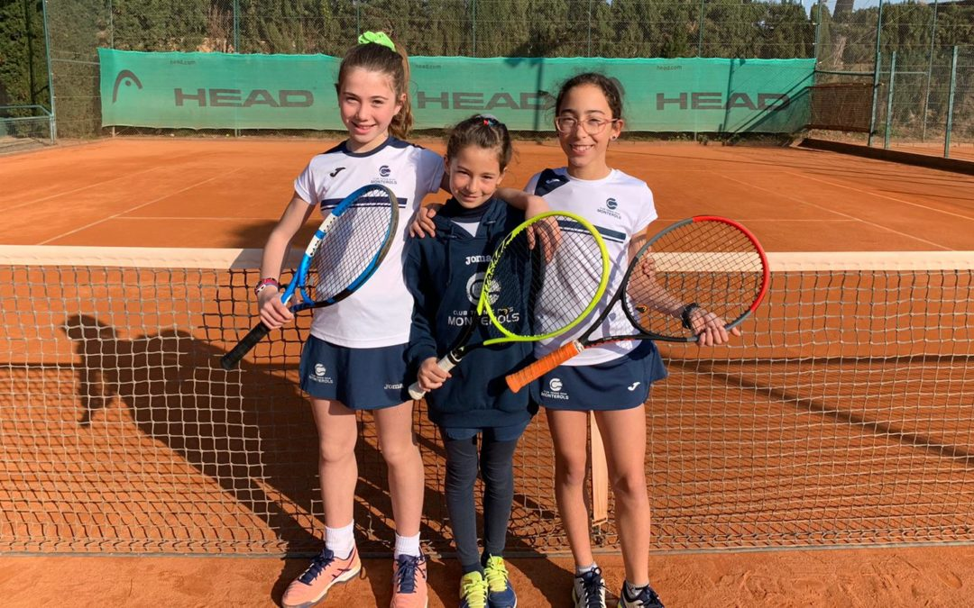 Victòria de l'Aleví Femení A per 3 a 1 contra CT Urgell en la Lliga Catalana de tennis