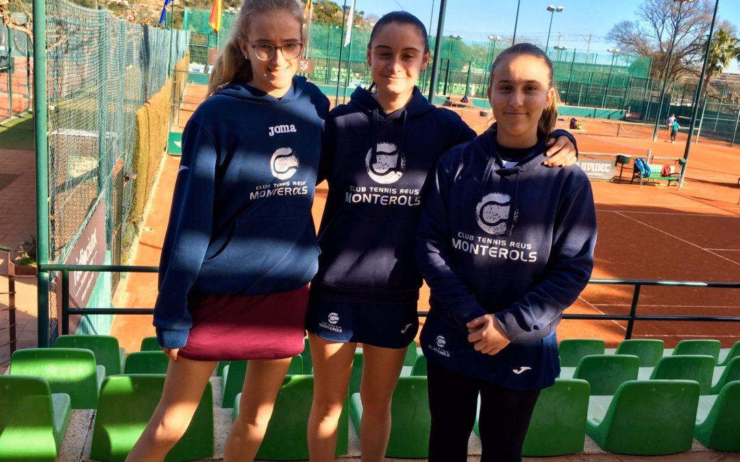 L'Infantil Femení B del Monterols guanya al Tennis Tarragona B en la Lliga Catalana de tennis