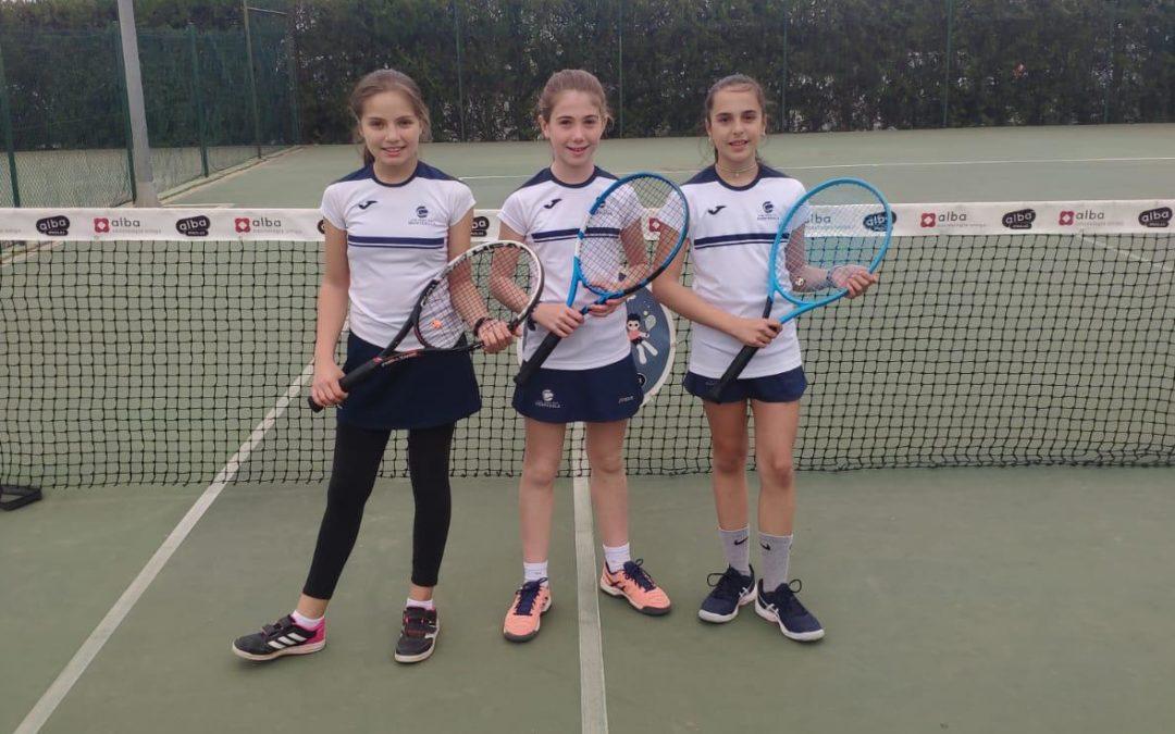 Victòria de l'Aleví Femení B contra el CT Lleida en la Lliga Catalana de tennis