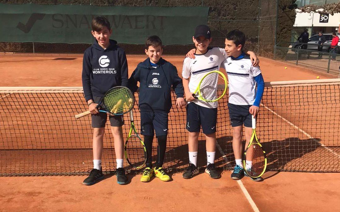 Victòria de l'Aleví Masculí A davant del Tennis Tarragona en la Lliga Catalana de tennis