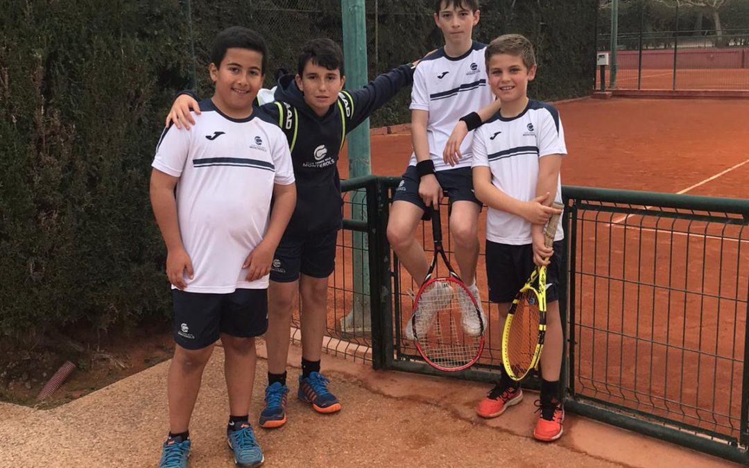Victòria de l'Aleví Masculí B contra el CT Calafell en la Lliga Catalana de tennis