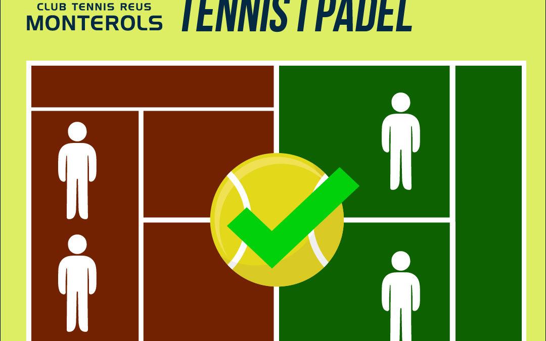 Les Federacions permeten els partits de dobles de tennis i pàdel