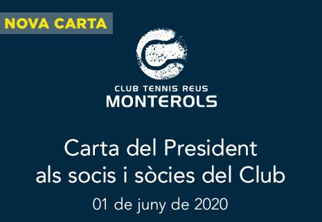 Carta del President als socis i sòcies del Club
