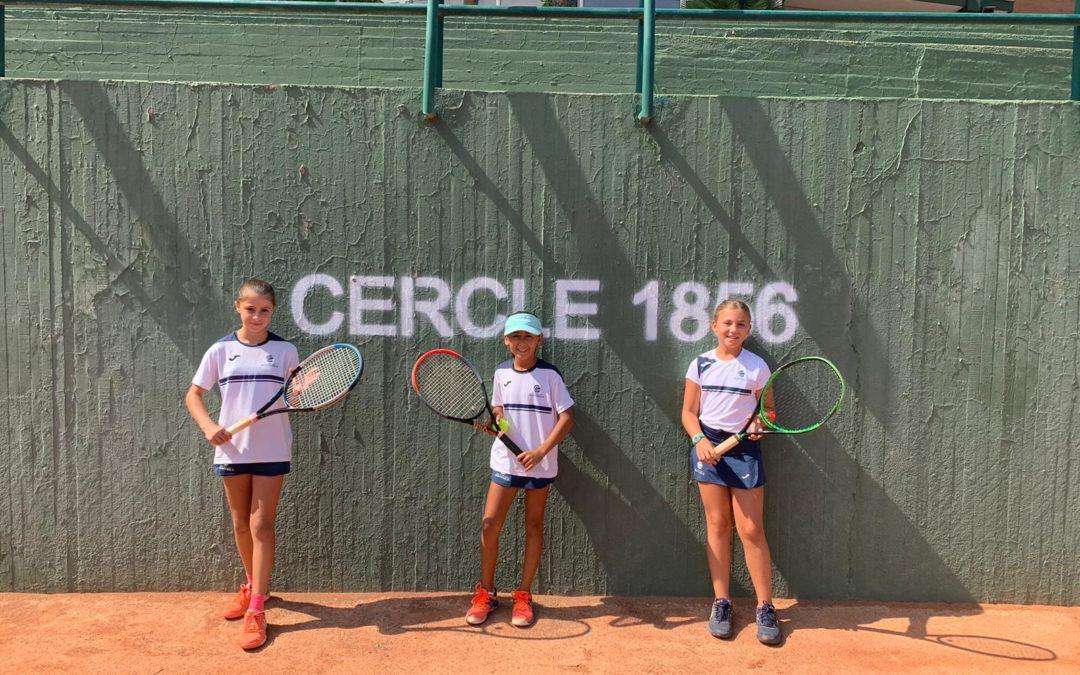 """L'equip Benjamí Femení """"B"""" guanya la primera ronda de la fase final de la Lliga Catalana de tennis."""