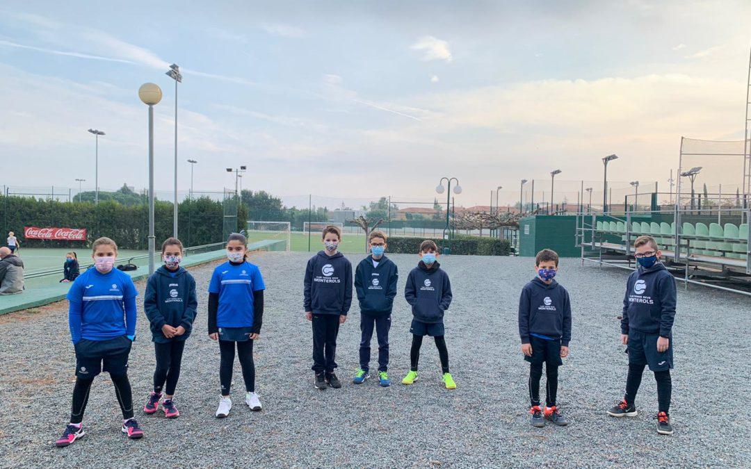 Jornada amistosa entre els alumnes del grup B de l'escola de tennis del Monterols