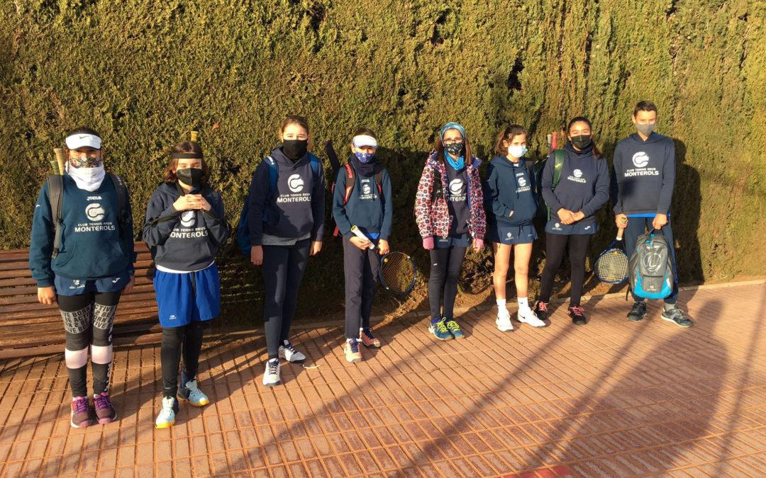 Torneig amistós entre els alumnes dels grups C2 i A1 de l'escola de tennis