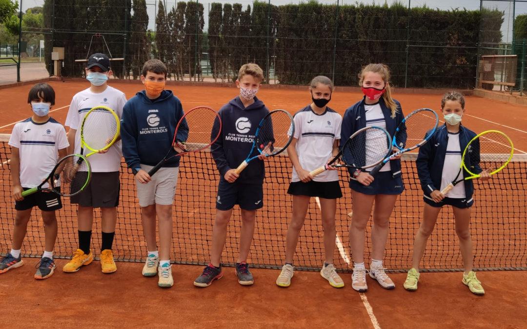Resultats de l'Aleví Masculí i Aleví Femení contra el Club Tennis Tarragona en la Lliga Catalana de tennis