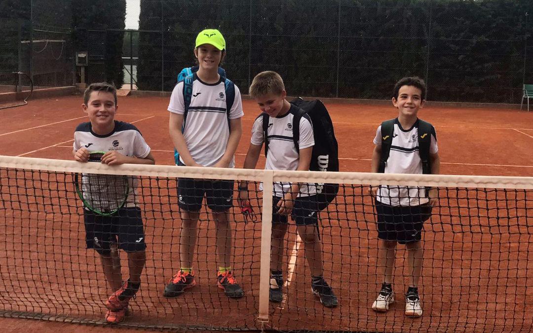 Gran victòria del benjamí masculí B contra el CT Tarragona en la Lliga Catalana de tennis