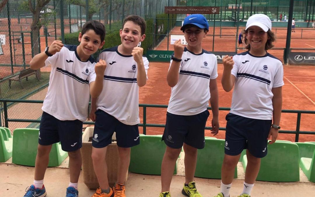 Victòria de l'equip benjamí masculí A contra el CT Tarragona en la Lliga Catalana de tennis