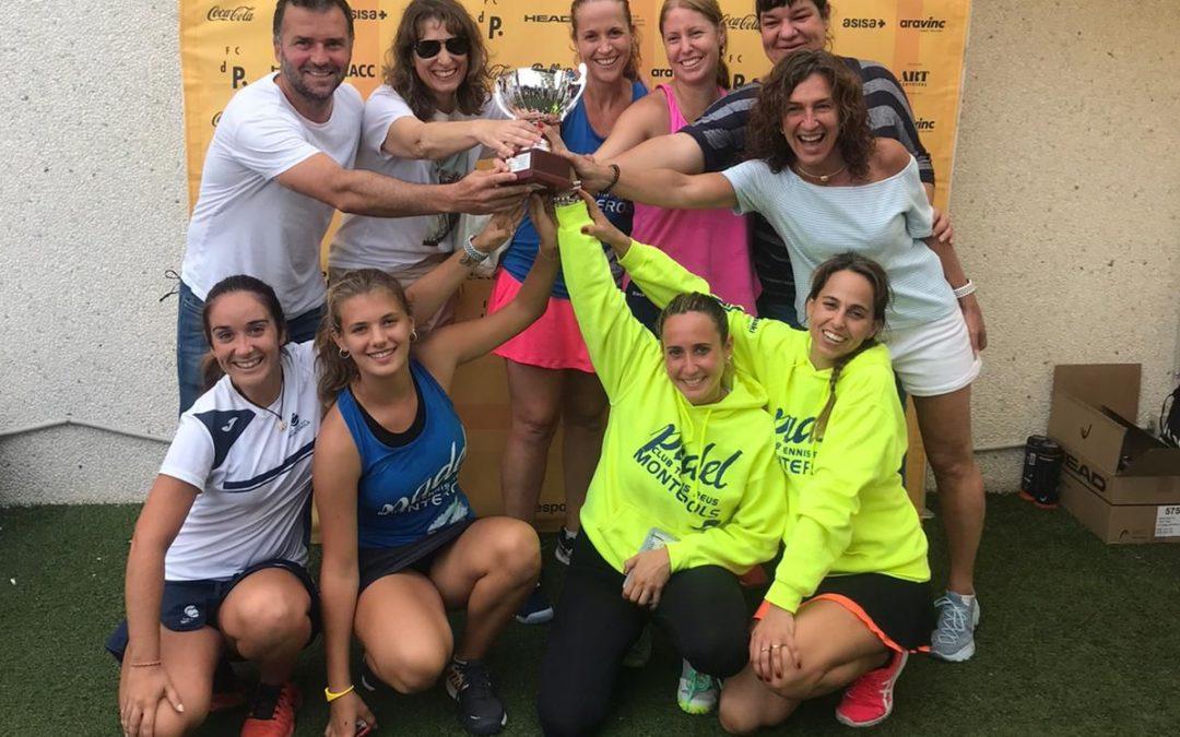 L'equip femení de Pàdel del Monterols campiones de la Copa Catalunya de pàdel de primera categoria