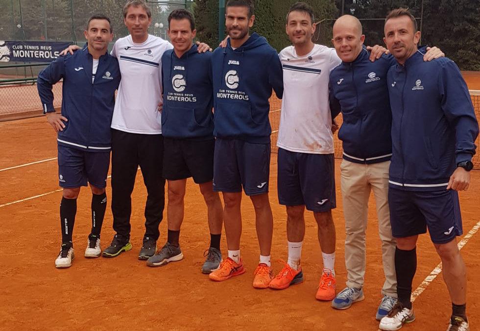 L'equip de tennis masculí +40 del Monterols, a un pas de proclamar-se campió d'Espanya de tennis de primera divisió